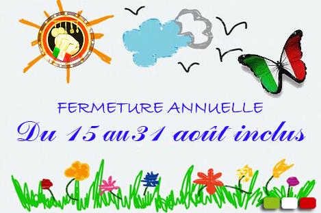 Fermeture annuelle 2016-2 - La Bella Italia