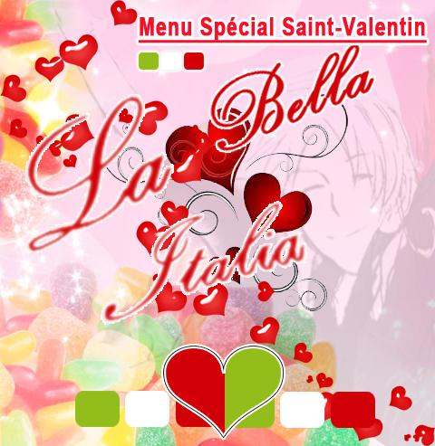 Menu special Saint-Valentin - Traiteur Bruxelles