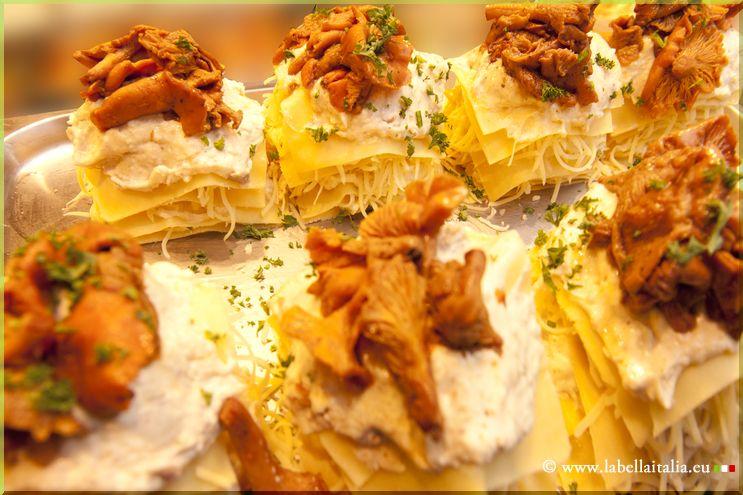 Traiteur italien Bruxelles Lasagne girolles - La Bella Italia Traiteur Italien Bruxelles