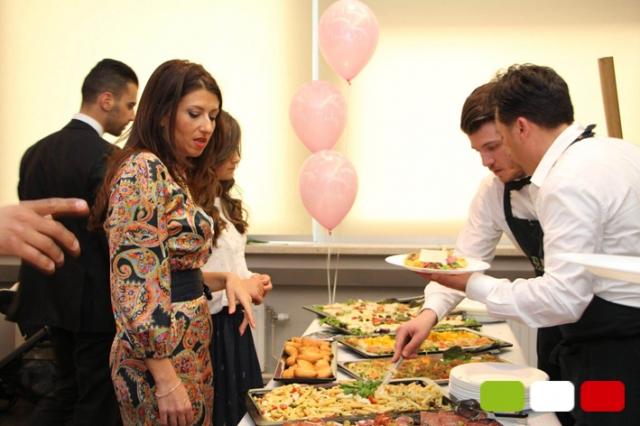 Banquet organisé par le service traiteur de La Bella Italia