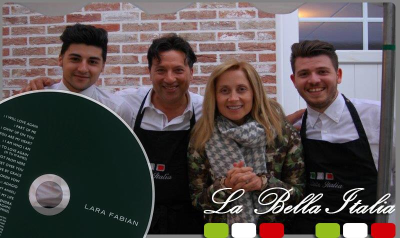 Lara Fabian - La Bella italia Traiteur Bruxelles